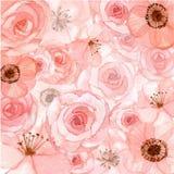1 kwiaty tła różowy royalty ilustracja