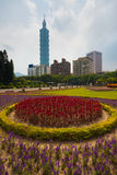 Kwiaty Taipei 101 Fotografia Stock