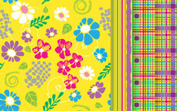 Kwiaty tupoczą set również zwrócić corel ilustracji wektora Obrazy Royalty Free