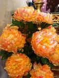 Kwiaty używać uwielbiać świątynię w Chiang Mai, Tajlandia zdjęcie royalty free