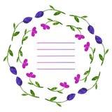 kwiaty ustawiający wektor Kolorowa kwiecista kolekcja z liśćmi i f Obrazy Stock
