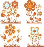 kwiaty ustawiający Royalty Ilustracja
