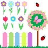 kwiaty ustawiający Zdjęcie Stock