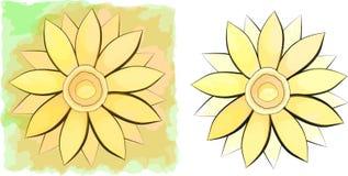 kwiaty ustawiają dwa ilustracja wektor