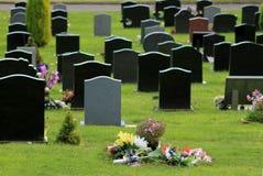 Kwiaty w cmentarzu Zdjęcie Stock