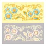 Kwiaty w dekoracyjnym stylu Tło Fotografia Stock