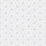 Kwiaty w honeycomb tła wektorowym bezszwowym wzorze Obraz Royalty Free