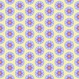 Kwiaty w honeycomb tła wektorowym bezszwowym wzorze Fotografia Royalty Free