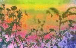 Kwiaty w ogródzie ilustracja wektor