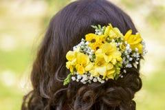 kwiaty włosy Zdjęcie Stock