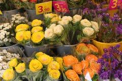 Kwiaty w rynku Zdjęcie Royalty Free