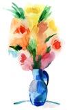 Kwiaty w wazie royalty ilustracja