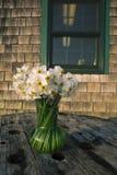 Kwiaty w wazie w Menemsha Massachusetts na martha's vineyard Obrazy Royalty Free