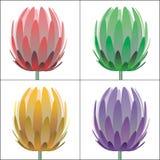 kwiaty wektora Obrazy Stock