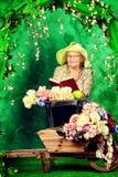 Kwiaty wokoło Zdjęcia Stock