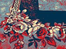 Kwiaty z błękitem i czerwonym skutkiem ilustracja wektor