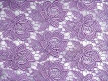 Kwiaty zasznurowywają tkaninę Obrazy Stock