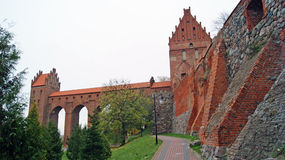 在Kwidzyn的中世纪条顿人城堡 图库摄影