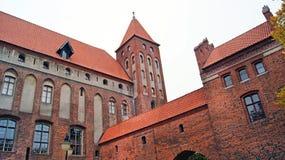中世纪条顿人城堡在Kwidzyn 免版税图库摄影
