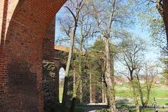 中世纪条顿人城堡在Kwidzyn 免版税库存图片