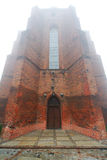 Kwidzyn Cathedral in fog Royalty Free Stock Image