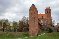 Kwidzyn, pomorskie/Pologne - avril, 9, 2019 : Un bâtiment historique en Europe centrale Vieille forteresse Teutonic dans Pomerani image stock