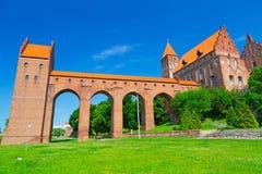 Kwidzyn slott och domkyrka Arkivbild