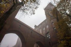Kwidzynstad en kasteel Stock Foto