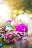 Kwieciści ślubni centerpiece szczegóły Zdjęcie Stock