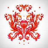 Kwieciści deseniowi elementy Wektorowy akwareli tło Obraz Royalty Free