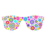 Kwieciści eyeglasses na białym tle Fotografia Stock
