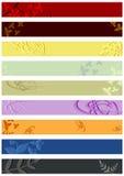 Kwieciści leaderboard sztandary ustawiający. Obrazy Royalty Free