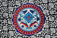 Kwieciści wzory rocznik płytki Obraz Royalty Free