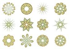 Kwieciści i ornamentacyjni elementy ilustracja wektor