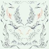 Kwieciści ramy & granicy ornamenty Fotografia Royalty Free