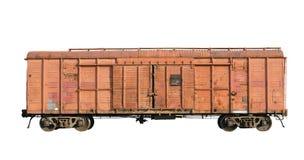 2009 Kwiecień ładunku stary kolejowy Ukraine furgon Fotografia Stock