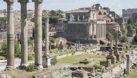 21 2018 Kwiecień, forum Romanum, Fori romani, antyczny miejsce antiq zdjęcia stock