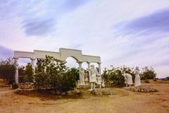 Kwiecień 7, 2017 - jukki dolina, Kalifornia, Stany Zjednoczone: Pustynny jezus chrystus park w jukki dolinie, San Bernardino okrę Fotografia Royalty Free