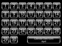 kwiecień kalendarzowy ikony set ilustracja wektor