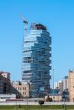 04 2017 Kwiecień, Nobel aleja, Baku, Azerbejdżan Budowa mieszkaniowy kompleks budynki Obraz Stock