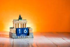 Kwiecień 16 Kalendarzowy Wielkanocny Niemcy Obraz Stock