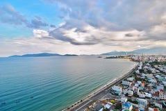 23 Kwiecień, 2015 - Panoramiczny widok, Nha Trang miasto, Wietnam fotografia royalty free