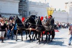 Kwiecień 21, 2014 urodziny Rzym Fotografia Royalty Free