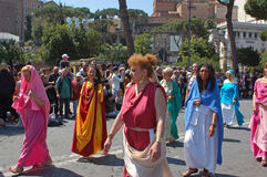 Kwiecień 21, 2014 urodziny Rzym Fotografia Stock