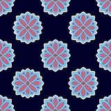 Kwiecista bezszwowa deseniowa tekstura Kwiatu ornamentu tło Zdjęcia Royalty Free
