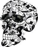 kwiecista czaszka Zdjęcie Stock