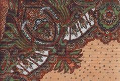 Kwiecista czerwona tkanina Fotografia Stock