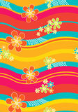 kwiecista deseniowa tkanina ilustracji