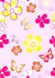 kwiecista deseniowa tkanina ilustracja wektor