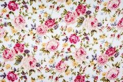 Kwiecista deseniowa tkanina Fotografia Royalty Free